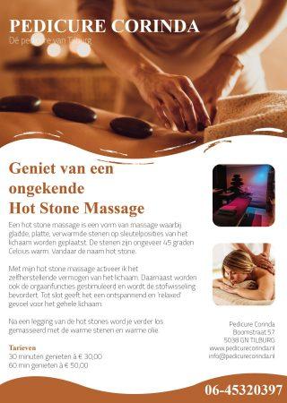 Flyer Pedicure Corinda Hot Stone Massage
