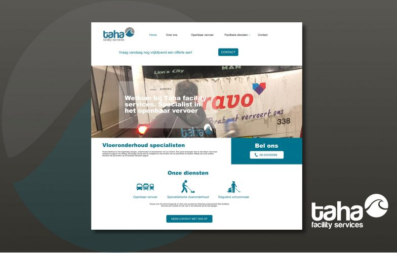 Website presentatie Taha facility services